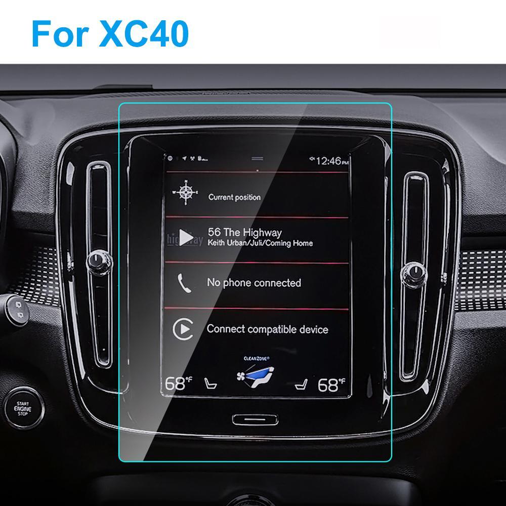8.7 인치 TPU HD 클리어 터치 스크린 프로텍터 자동차 GPS 네비게이션 TPU 보호 비닐 필름 XC40 XC (40 개) 자동차 액세서리