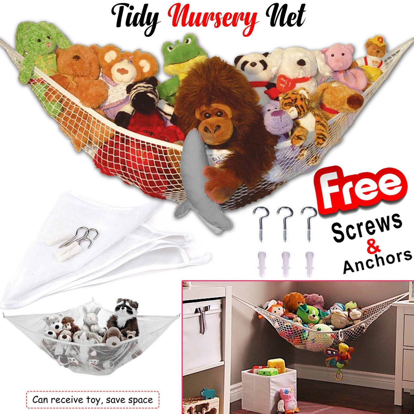 Große Stofftier Hängematte Mesh Net Teddybär halten Baby Childs Schlafzimmer Kinderzimmer ordentlich Spielzeug Hängematten für Kinder