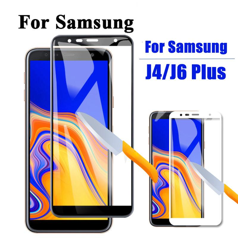 Samsung Galaxy J8 J7 J6 + J4 çekirdek J2 koruyucu film için Tüm komple 9h güneş geçirmez Temperli ekran koruyucusu