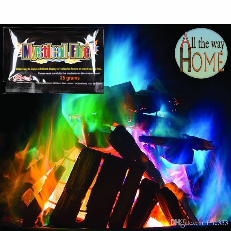 Mystical Fire Magic Tricks 10/15/25/30g Coloured Magic Flames Bonfire Sachets Fireplace Pit Patio Color Toy Magicians Pyrotechnics