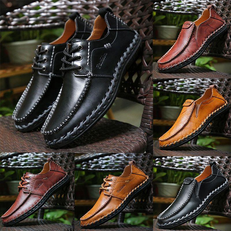 alta qualidade de couro genuíno Designer Luxo marca masculina sapatos casuais rendas-up ou Deslizamento-na dos homens Dress Shoes terno sapato Zapatos Drivers preguiçosos