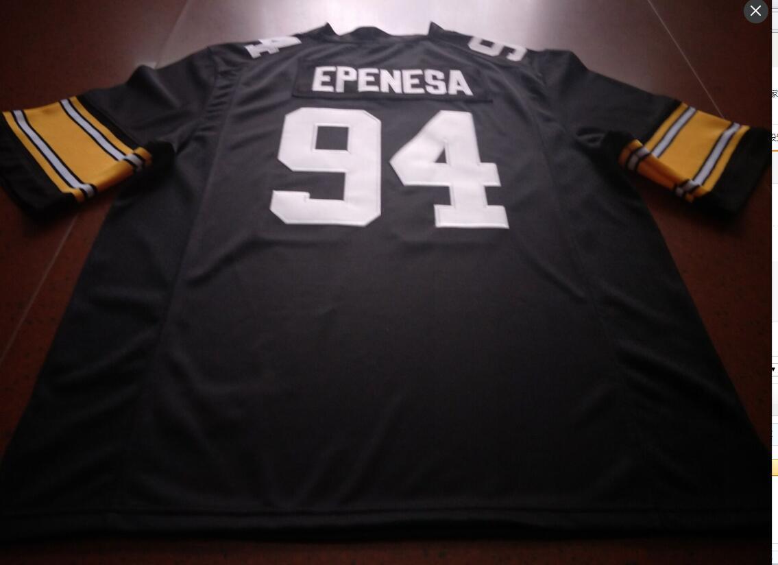 mulheres costume Homens Jovens Nº 94 A.J. Epenesa Iowa Hawkeyes Football Jersey tamanho s-4XL ou personalizado qualquer nome ou número de camisa