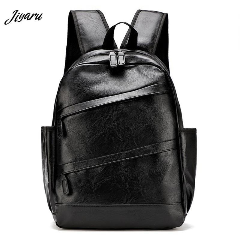Hot Sale PU Leather Backpack Men Travel Backpack Fashion Casual Bagpack Shoulder Bag for Men T190916
