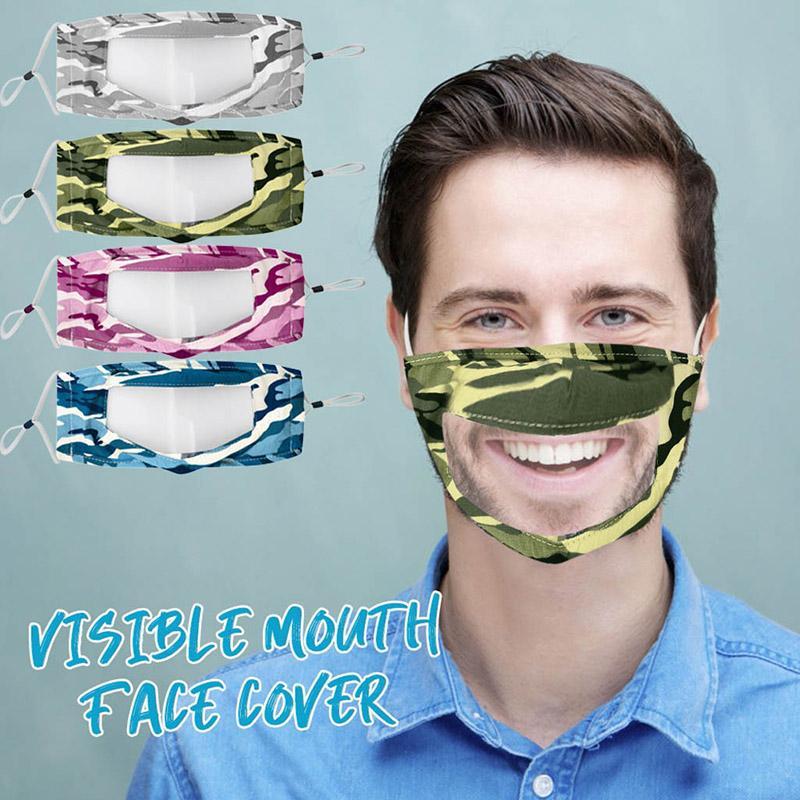 شفاف قناع الوجه الخاصة لمكافحة الضباب تنفس قابل للغسل الوجه قناع غطاء الوجه الأزياء التمويه القطن قابلة لإعادة الاستخدام شحن مجاني