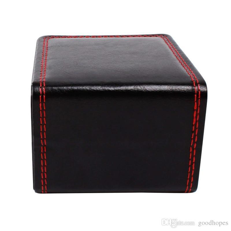 Moda Assista Caixas do falso capas de couro Assista Case Bracelet Bangle Jewelry Relógio de pulso de exibição com caixa de armazenamento almofada caixas de presente