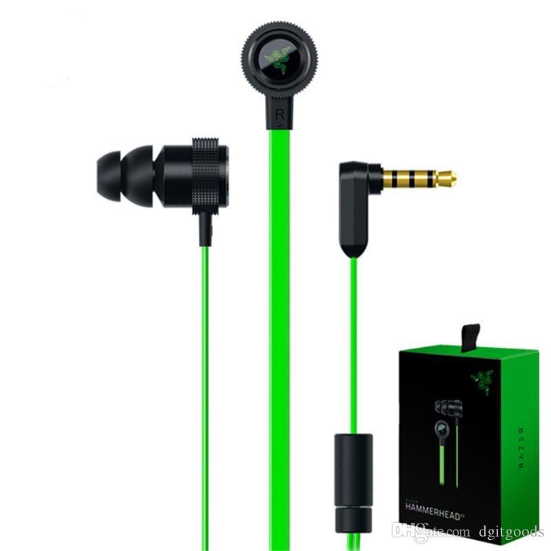 2019 Kopfhörer Razer Hammerhead Pro V2 im Ohrkopfhörer mit Mikrofon-Kleinkasten-Spielkopfhörern China-freies Großhandelsverschiffen