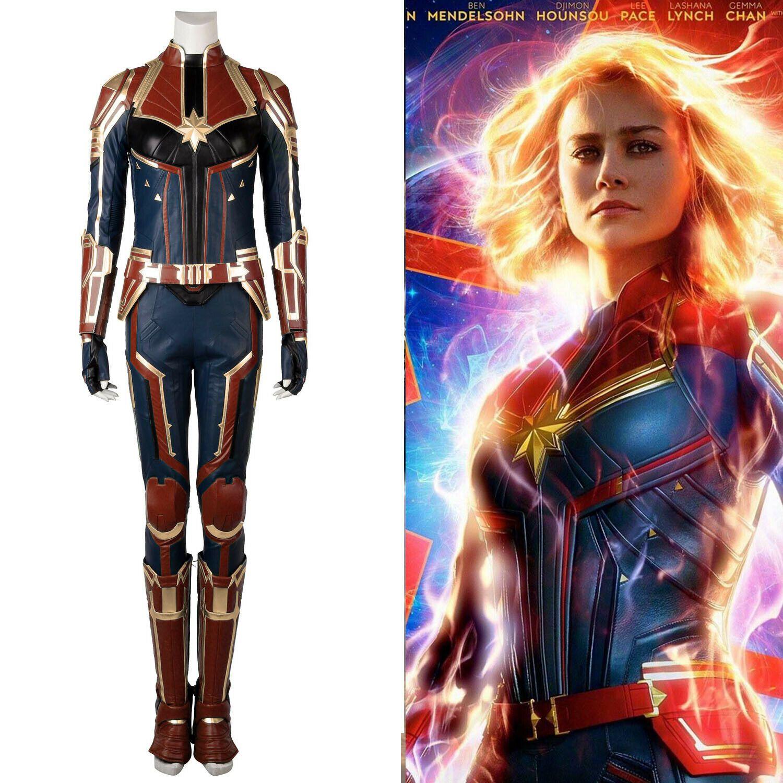 Unisex New Captain Marvel Carol Danvers Cosplay Costume Leather Full Suit Custom Made Test Mtransport No Alternate costume designs for captain marvel in avengers: therapology