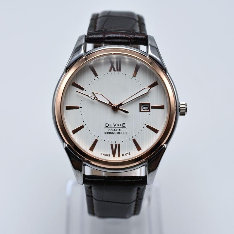2 art großhandel mode zum verkauf quarz leder herrenuhren analog auto datum männer kleid designer uhr geschenke männer armbanduhr montre homme