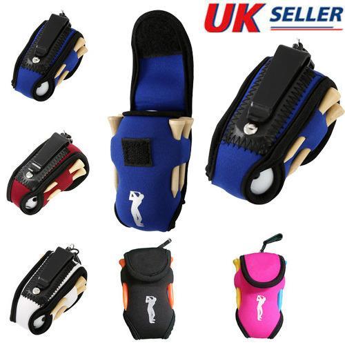 Outdoor Portable Mini Golf Bag 4 Tees and 2 Balls Holder Neoprene Mini Waist Bag Sports Tool Pack Balls Tees Accessories /127