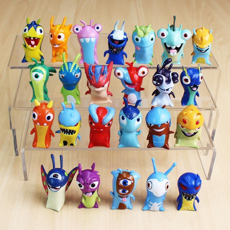 24pcs/lot 4-5cm Cartoon Slugterra PVC Action Figures Toys Dolls Christmas Gift for Children