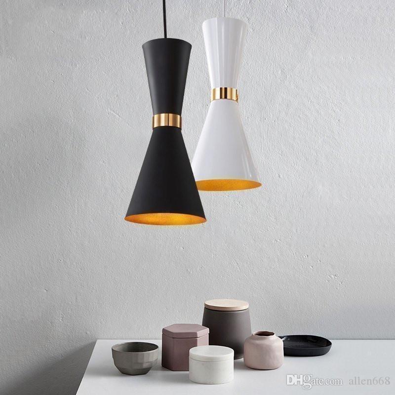 قلادة الأنوار الحديثة LED مصباح قلادة ومينير Hanglamp الألومنيوم مصباح الظل ومينير تناول الطعام أضواء غرفة للمنازل الإضاءة