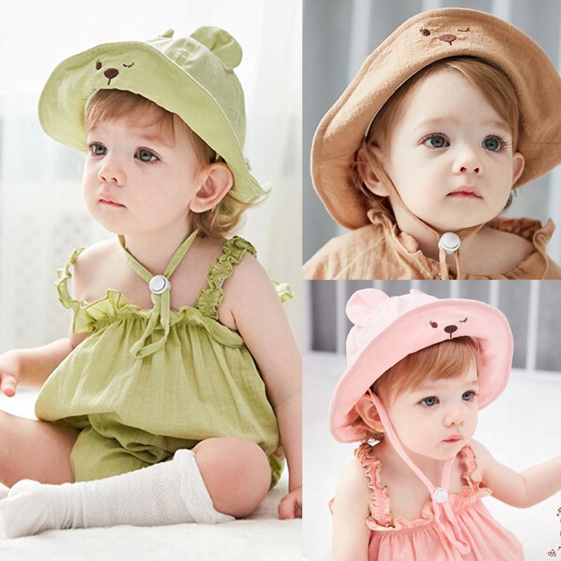 Summer Newborn Baby Girls Kids Princess Infant Flower Sun Cap Cotton Bucket Hat~