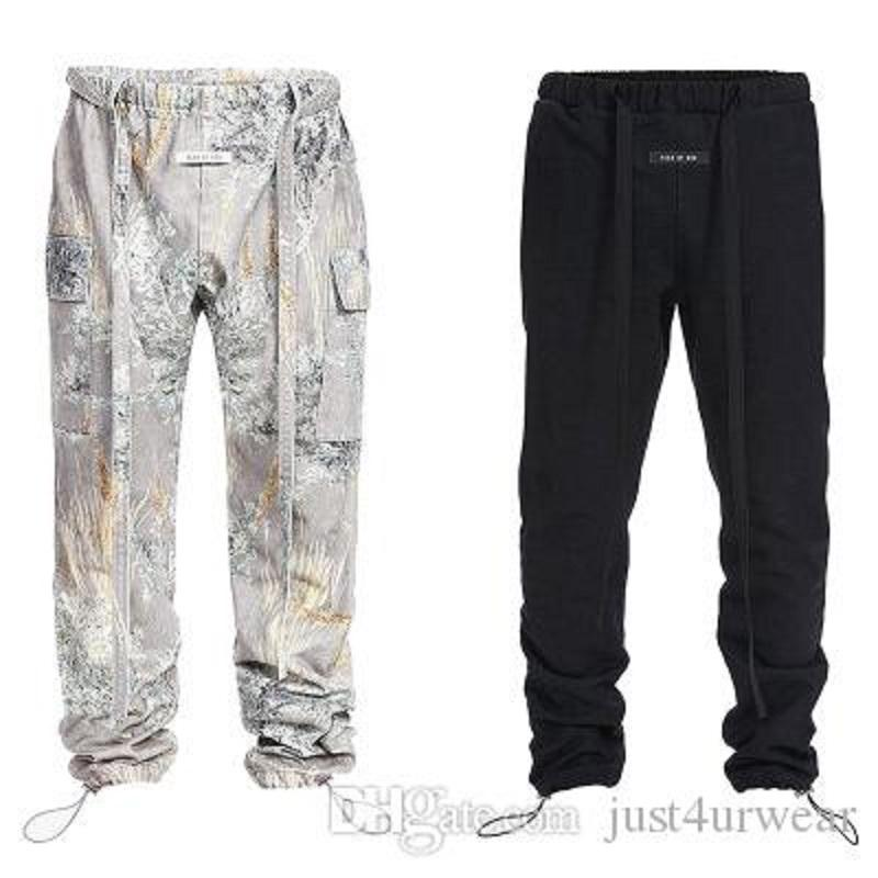 Mens Fashion Brand Cargo Pants Casual Hip Hop Sport Full Length Drawstring Straight Pants Male Fashion Clothing