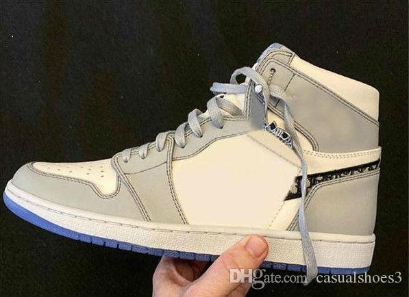 Release 1 haute OG Marque 1S Chaussures de basket Homme Femme Blanc Gris Noir Sport Sneaker Athletic