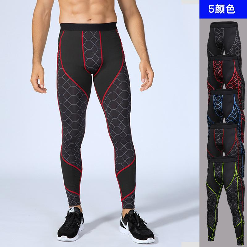 New Compression Jogging Pants Men Running Tights Long Sweat Basketball Running Training Sportswear Gym Leggings for Fitness