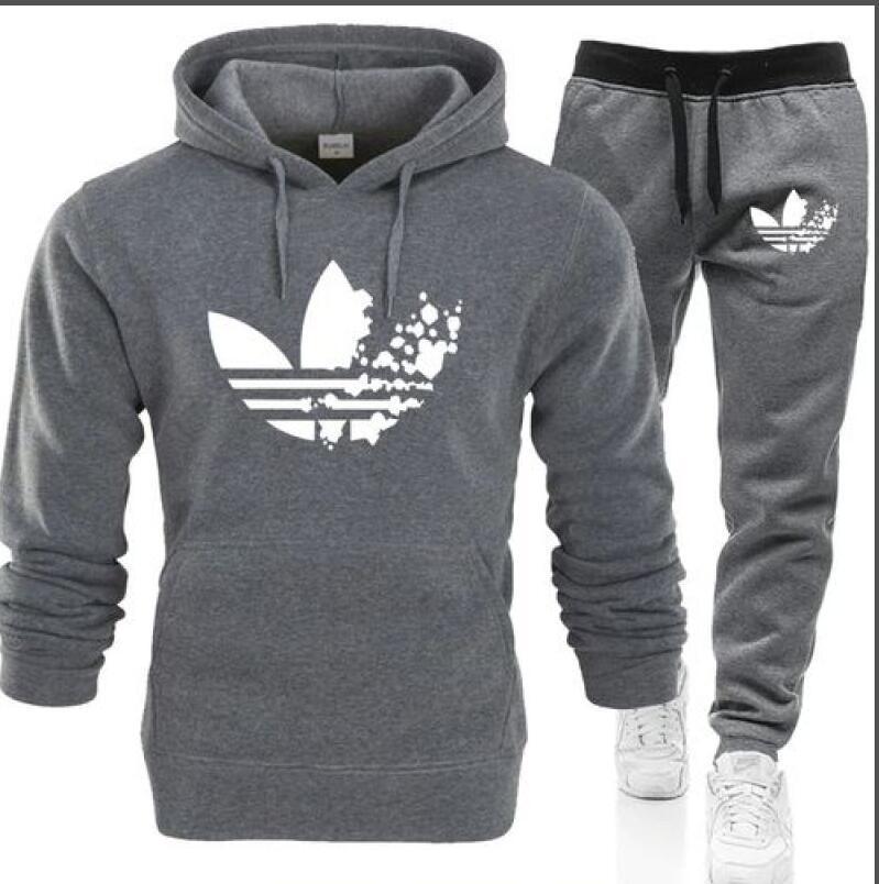 Sıcak satış 2adet Sweatsuits Eşofman Erkekler eşofmanı pantolon Erkek Giyim Sweatshirt Kazak Casual Tenis Spor Eşofman eşofman womens