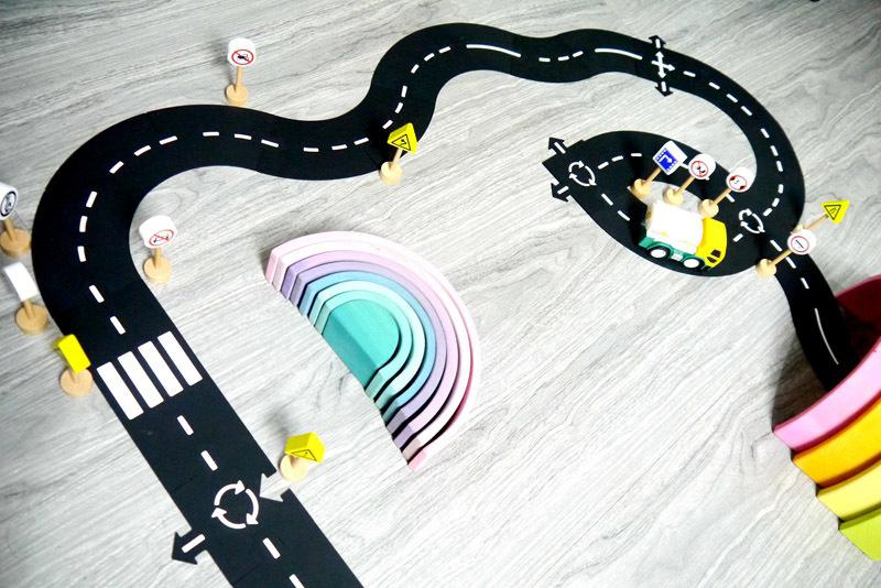 DIY PVC Puzzles Track Play Set Road Car Track Baby Puzzle Game Mat Floor Carpet Educational Learning Toys Nordic Kids Room Decor CX200615