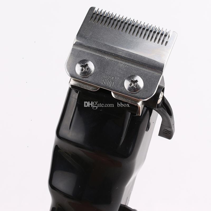 Magia pinza de pelo de las podadoras del condensador de ajuste sin cuerda portable Negro de pelo de oro corte de la máquina de corte de peluquería profesional Herramientas eléctricas para los hombres