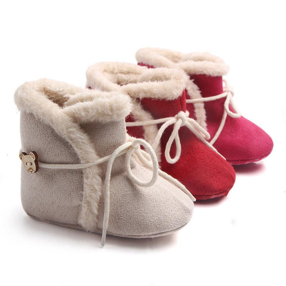 Snow Boots scarpe per il bambino dei ragazzi tengono caldi stivali scarpe stivali moda caldo peluche all'interno infantili bambino scarpe