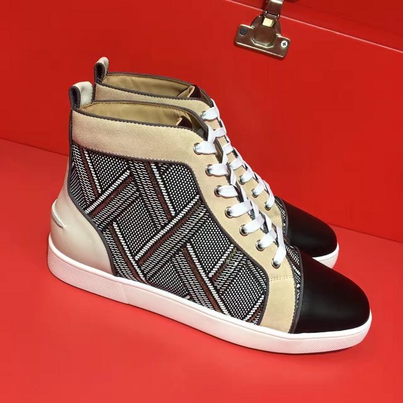 zapatos de diseño para hombre del diseñador para los hombres de las mujeres de color rojo zapatos inferiores de las mujeres de lujo zapatos de lujo de los hombres holgazanes ocasionales del cuero genuino 04
