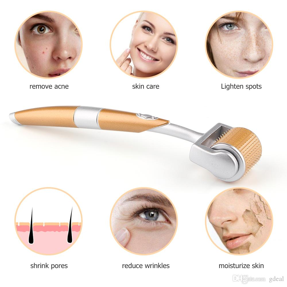 Gold Titanium Face Roller Facial Massager Skin Exfoliator Machine Face Exfoliating Skincare Anti Hyperpigmentation Beauty Care Beauty Products Skin Care Products From Gdeal 8 27 Dhgate Com