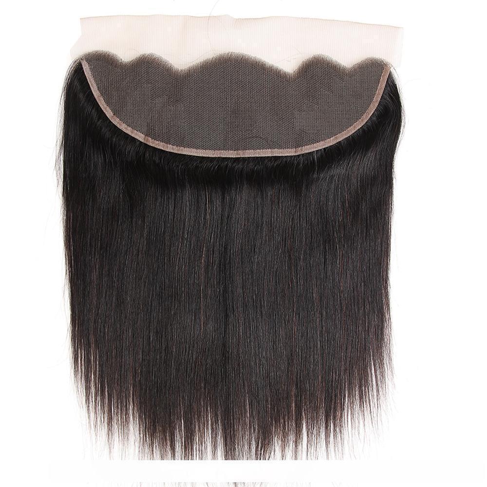 D бразильский прямые волосы Объемная волна Свободная волна 3 пачки с 13x4 Шнурок Закрытие 7а Необработанные перуанский малазийского бразильском Деве Huma