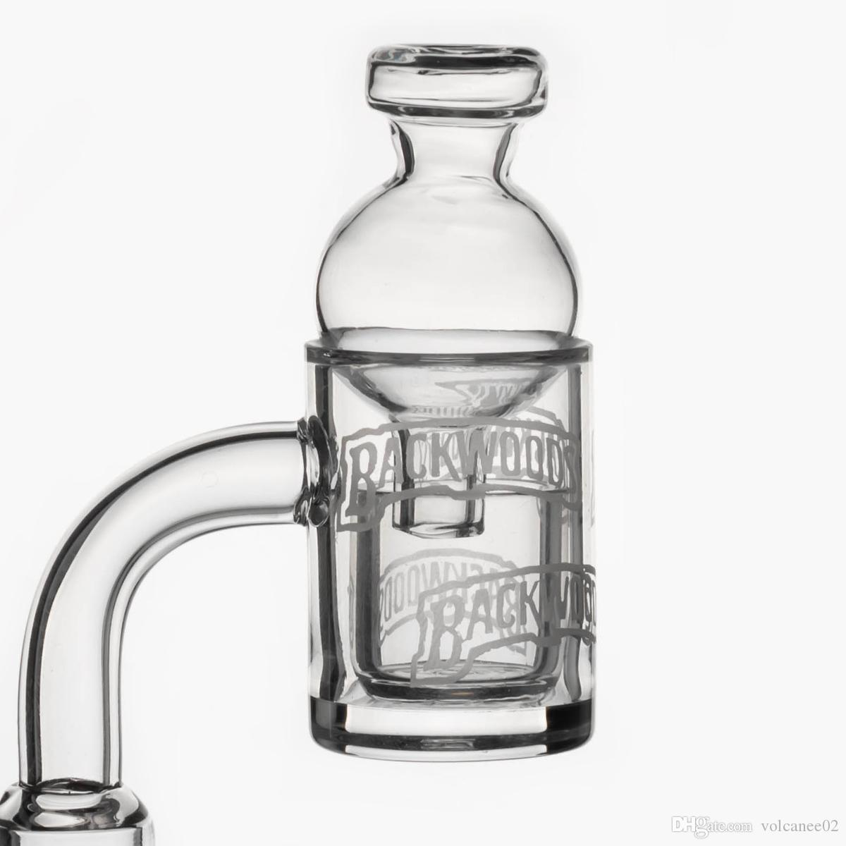 Design de cachimbo de água chanfrado de quartzo banger 25mm unhas inserir + tampa de carb de vidro para bongs Dab Rig