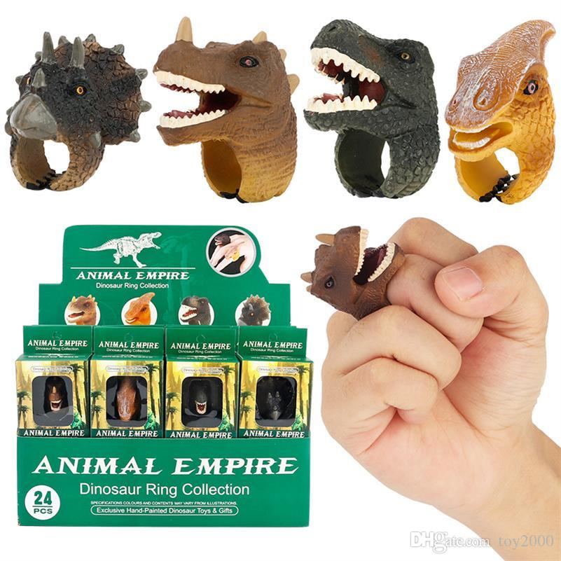 Realistic Wild Animals Action Figures Rings Learning Party Favors Toys for Boys Girls Kids Toddlers Forest Toys 2364