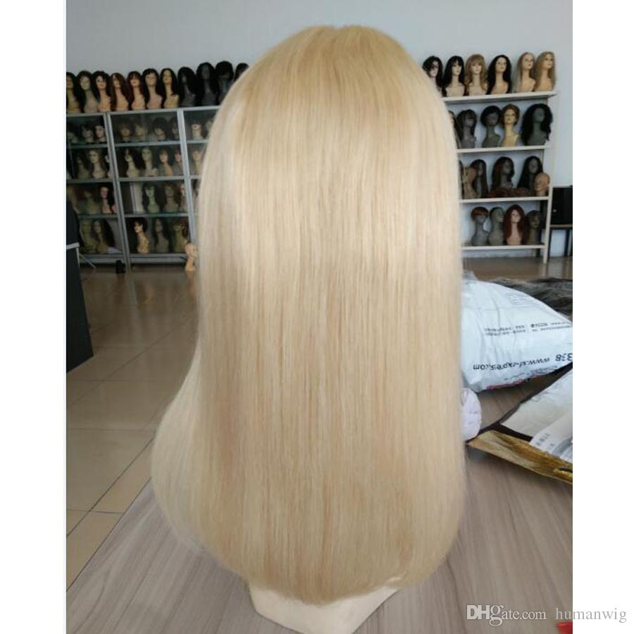 Hot New Product 613 Blonde Wig Straight 13x6 Lace Front Wigs Part Human Hair Wigs Pre-Plucked 150% Density For Women Factory Outlet