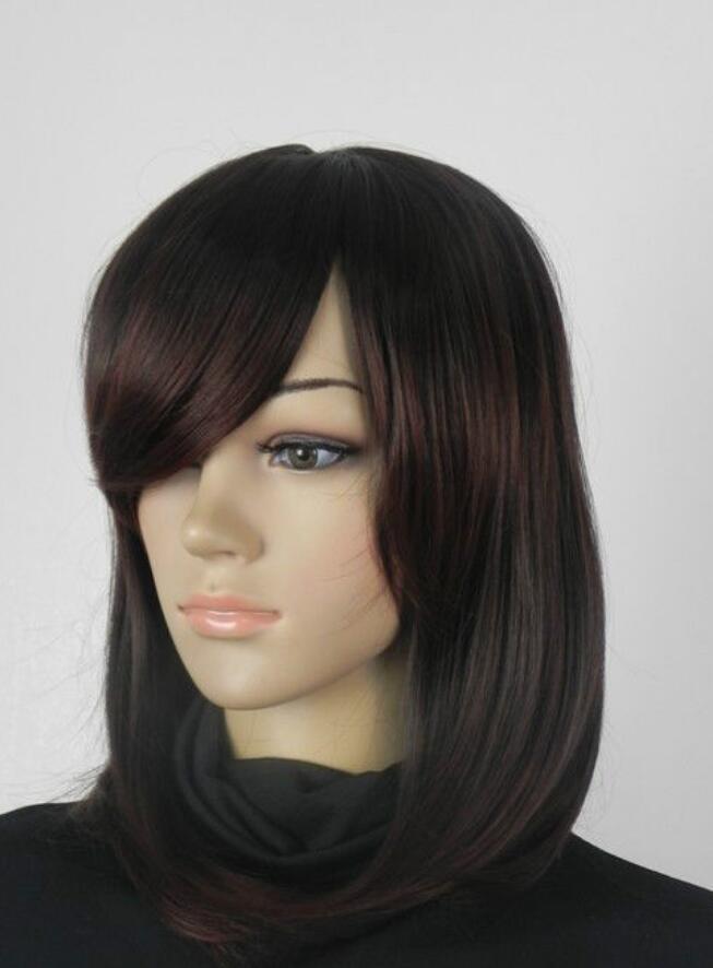 LL QUENTE vender Frete Grátis nova peruca marrom saudável curto + hairnet @PO