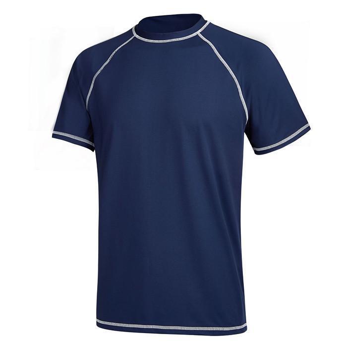 T shirt fraco protetor solar manga curta gola Moda Outdoor Sports Swimwear Mens Casual Designer