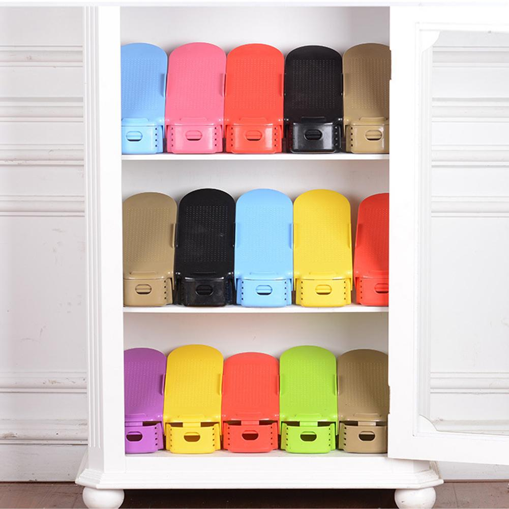 double-layer adjustable shoes rack Footwear Support Slot Space Saving Cabinet Closet Stand Shoes Storage Rack home organizer