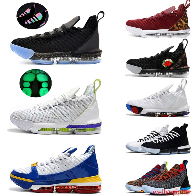 2019 Lebron 16 Gleichstellung Away Home-Pack James Frische Bred SuperBron Kinder Basketball-Schuh-Remix Lebrons 16s Black Gold Trainer Männer Turnschuhe