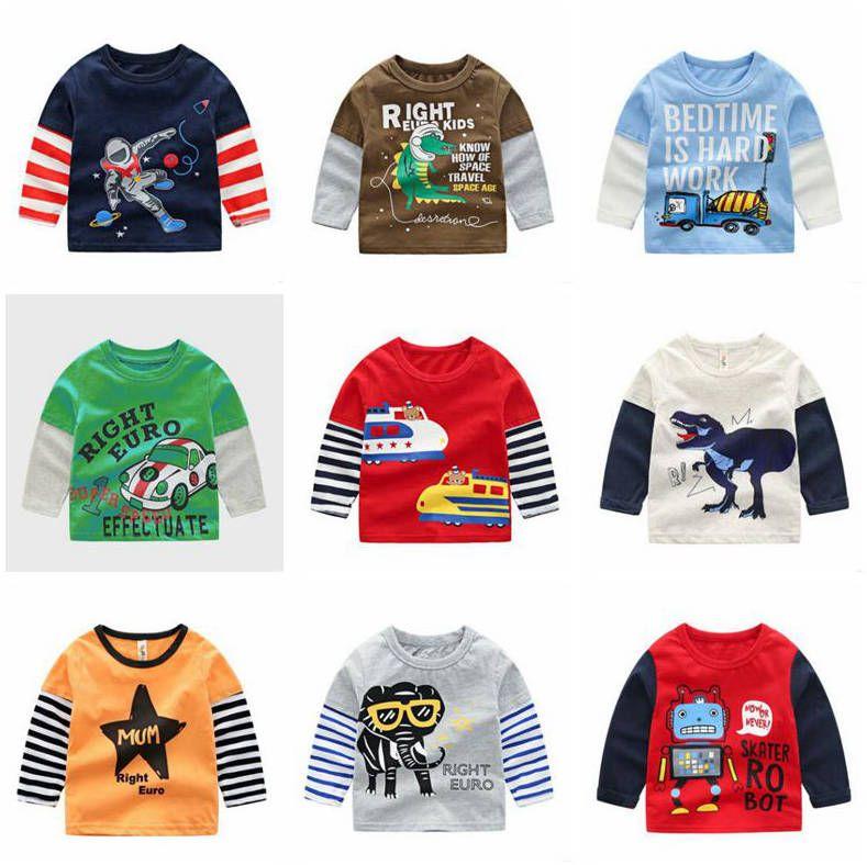 Kids Tops Baby Shirts Girls Autumn Printed T-Shirts Tops Fashion Shirts