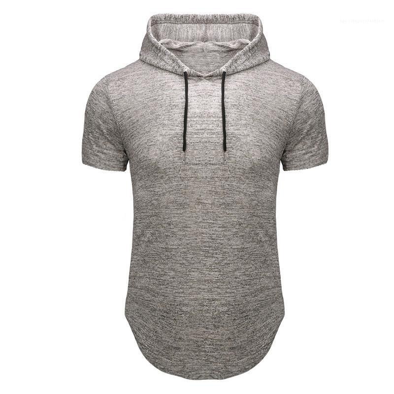 Sleeve Casual Tees Homme Designer Top capuz Mens Lazer Fitness T-shirt Summer Fashion Slim Fit Curto