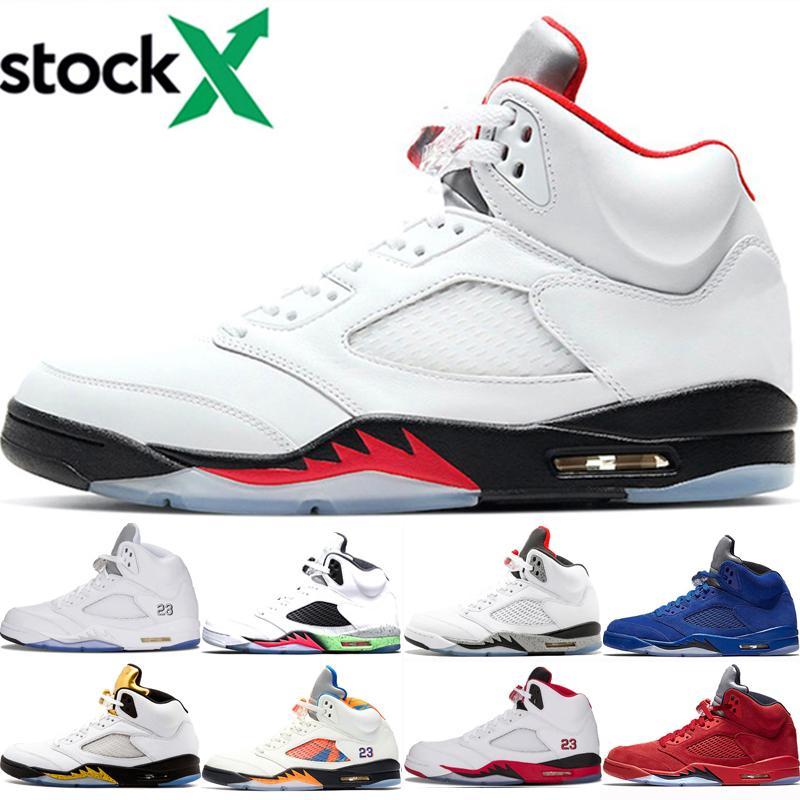 2020 Feu rouge Jumpman 5 5s chaussures de basket-ball hommes OG MICHIGAN Black Grape rouge les canards oregon bleu ciment blanc bottes entraîneurs des hommes