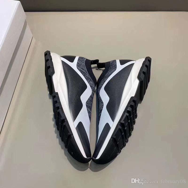 Çorap Ayakkabı Hız Örme Eğitmenler Casual Sneakers Hız Eğitmen Çorap yarışı Moda Siyah Ayakkabı Erkek Kadın Spor Ayakkabı h9m1