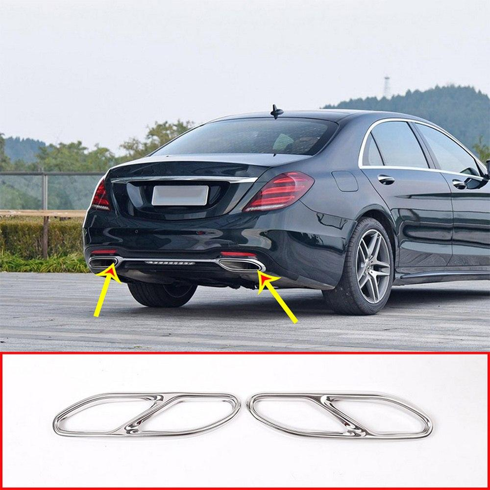 Car Accessory Exhaust Cover Outputs Tail Frame Trim