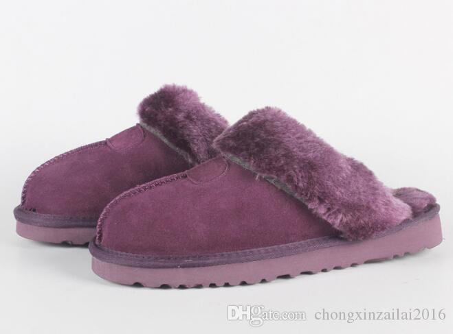 2020 Австралийские классические сапоги нагреться хлопок мужчин и женщин тапочки коровьей Баотоу dlippers Snow Boots Рождественский подарок размер 34-45