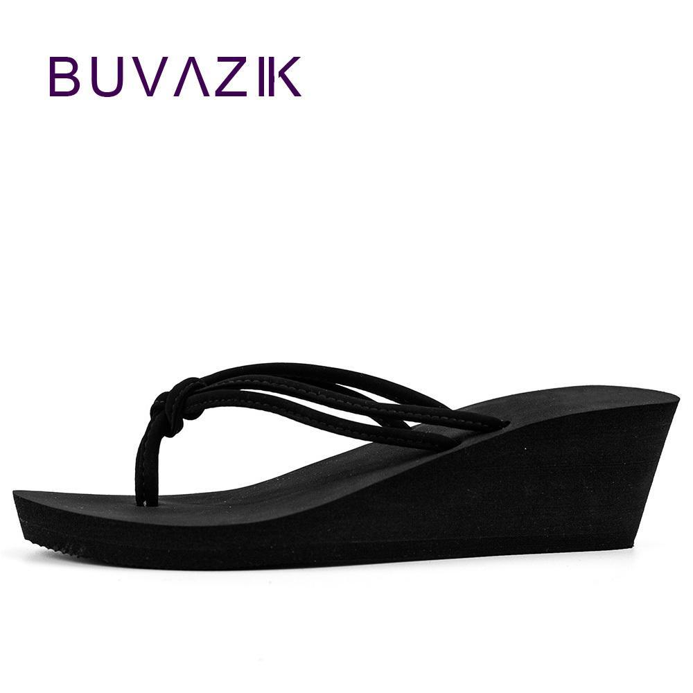 Pu Kauçuk kayma-on rahat düz moda sandalet Ayakkabı Plaj düz Kama Flip flop Bayan terlik kadın 2018 yaz tarzı Y200423