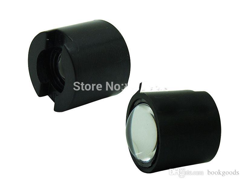 Freeshipping 2000PCS черный белый 10 градусов LED LENS Отражатель коллиматорный 14.5мм Для 1W 3W 5W High Power Star светодиодные