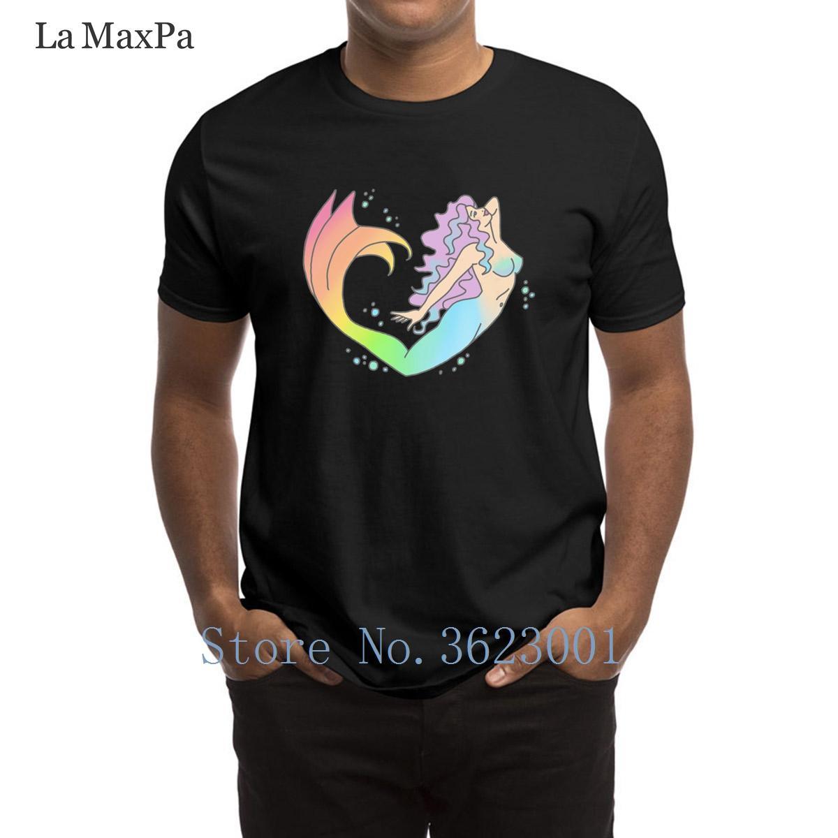 Letters t-shirt personalizado Camiseta Rainbow Magic Pastel feminino feminista Mermaid Quirky 2018 camiseta Man O Neck T-shirt para homens