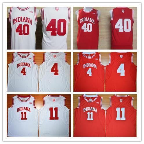 Universidad de la NCAA Indiana Hoosiers Victor Oladipo Thomas Victor Isiah Cody Zeller 40 camisetas cosidas blancas rojas de baloncesto de la universidad