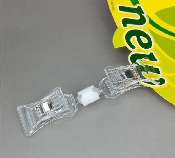 Limpar POP Plastic Sign preço do cartão Tag Suporte do papel de exibição Acrílico Preço clipes Tag Publicidade Em 1000pcs Retail Store