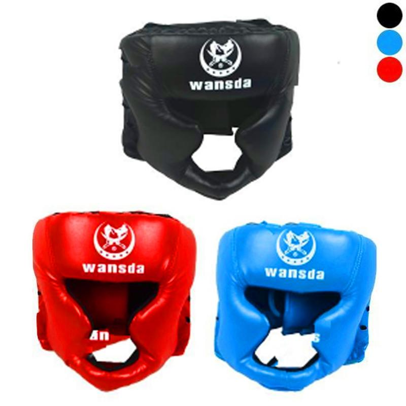 Boxing Training Face Head Protective Gear Helmet Headgear Guard Black// Red// Blue