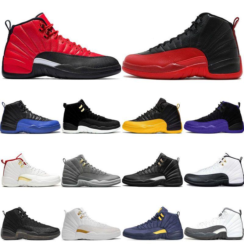 2020 12s Reverse Flu Game Men Basketball Shoes 12 Dark Concord