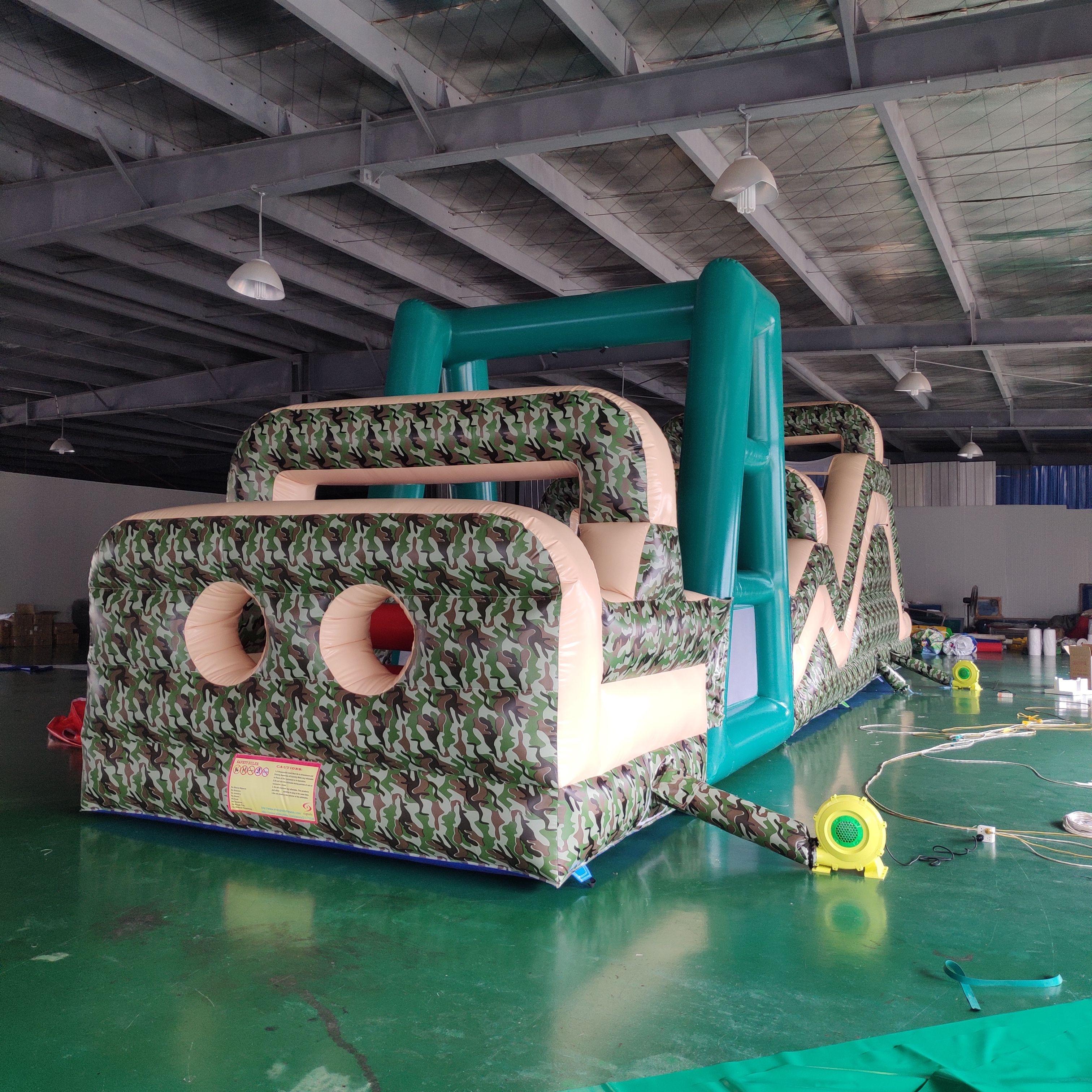 Al aire libre de obstáculos inflables de golf al aire libre de los niños asombrosos juegos inflables