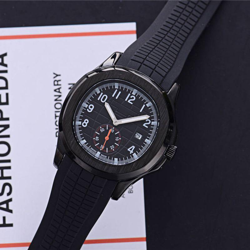 Mejores ventas de marca suiza para hombre relojes movimiento de cuarzo pequeño dial trabajo Nautilus diseñador reloj impermeable banda de goma reloj de lujo reloj