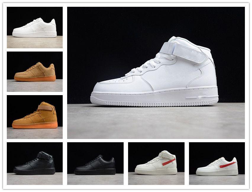 CORK Para MenWomen alta qualidade Uma 1 Calçados casuais Low Cut Todos Branco Preto Casual Cor Tamanho Sneakers US 5,5-12