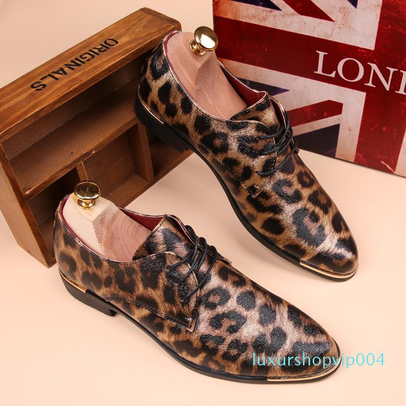 Hot Sale-Summer Leopard Men Shoes Casual Leather Espadrilles Flat Loafers 2017 Fashion Spring Vintage Wedding Oxford Shoes